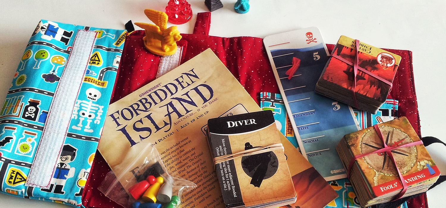 Forbidden Island fits inside an All Rolled Up