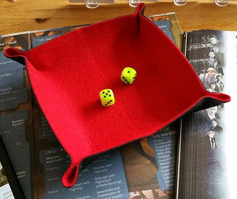 Red Folding Flexible Dice Tray for Tabletop Gaming