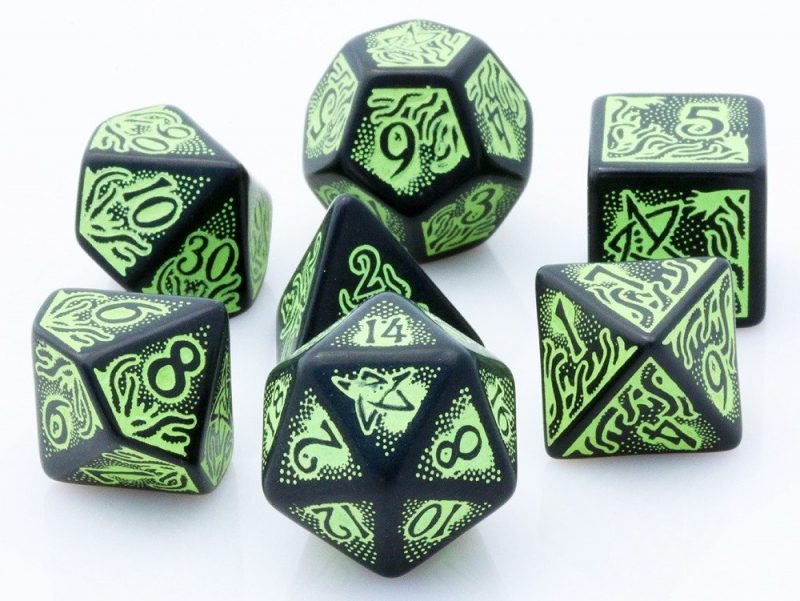 Q Workshop Call of Cthulhu 7th Edition dice set